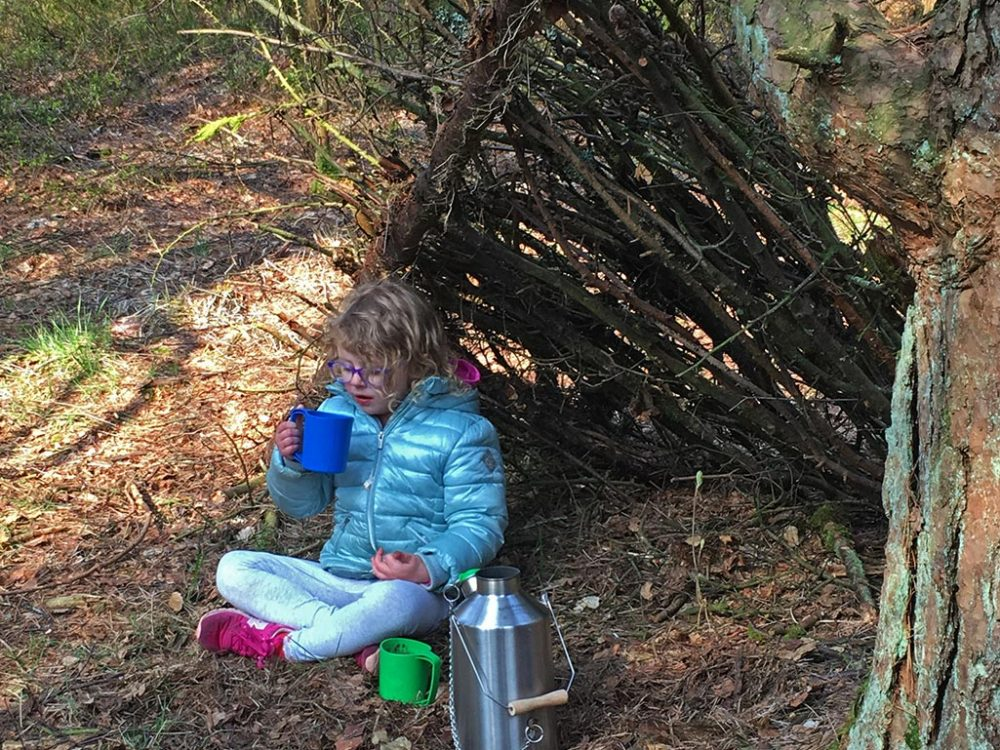Girl by Shelter Portrait